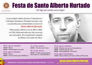 Festa de Santo Alberto Hurtado Cartaz