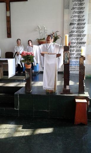 Pastorais participam da festa de Nossa Senhora da Paz.