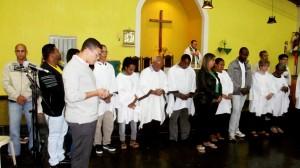 Na missa da noite, foi a vez das pastorais da Liturgia e os Ministros da Palavra, Eucaristia e dos Enfermos.