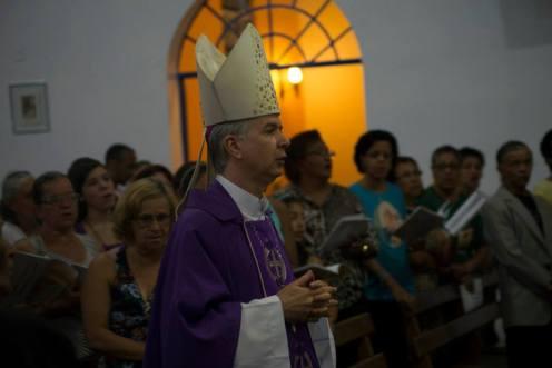 Posse do padre Donizetti Tadeu como pároco da Paróquia Santíssima Trindade. Foto (crédito): Clayton Henrique / Pascom Parsantri