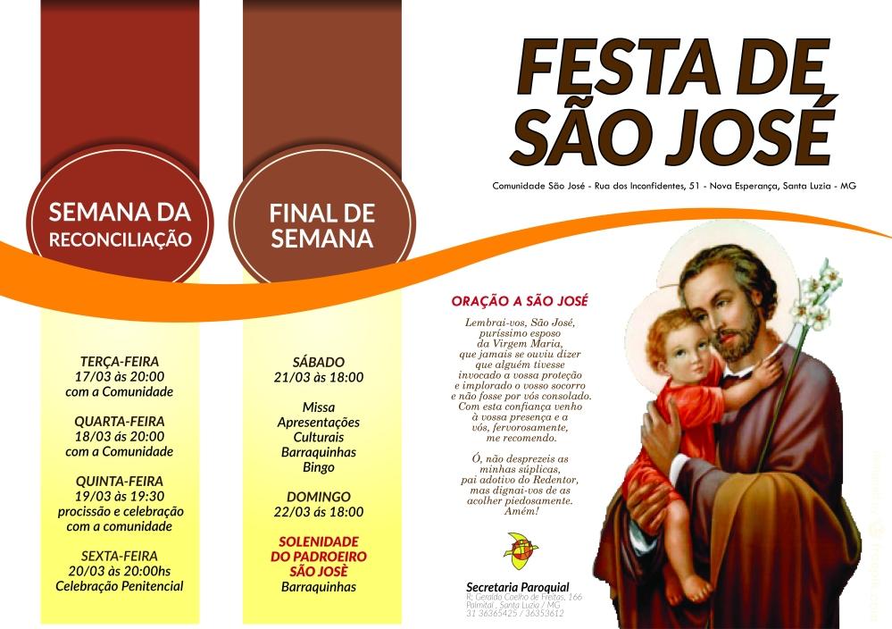 Festa de São José - PANFLETO