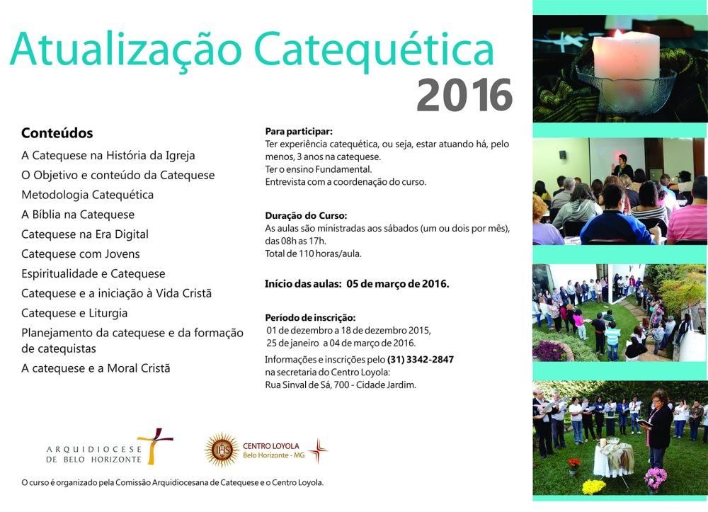 Cartaz divulgação At.  Catequetica 2016